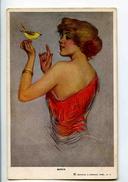 C 19232   -   Lou Mayer  -  Birds  -  Oiseaux  -  Belle Jeune Femme Et Oiseau - Illustrators & Photographers