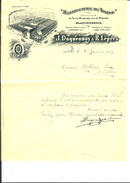 06/ 59, Lille, Duquennoy Et Lepers, Manufacture De Toiles, 1907 - France