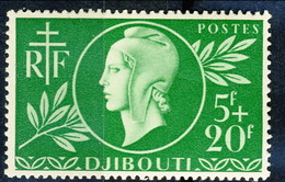 Costa Dei Somali 1944 N. 253 F. 5 + F. 20 MNH Cat. € 2.30 - Unused Stamps