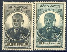 Costa Dei Somali 1945 Serie N. 262-263 MNH Cat. € 2.90 - Unused Stamps