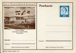 17789 Germany,  Stationery Card  15pf. 1963 Differents Flags, Drapeaux,