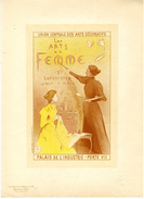 MOREAU NELATON  LES MAITRES DE L AFFICHE  2éme EXPOSITION DES ARTS DE LA FEMME PALAIS DE L INDUSTRIE  PLANCHE N° 58 1897 - Lithographies