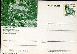 17790 Germany,  Stationery Card  20pf. 1966 Siam Temple Of Bad Homburg - Buddhism