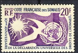 Costa Dei Somali 1958 N. 291 C. 20  MNH Cat. € 2.50 - Unused Stamps