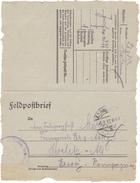#7182 Germany, WW1 Military Letter, Feldpostbrief Mailed 1917 From Infantry Regiment 477 To Ersatz Komp. Strelitz Alt - Allemagne