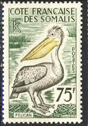 Costa Dei Somali 1959 - 60 N. 303 F. 75 MNH Cat. € 16 - Unused Stamps