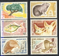 Costa Dei Somali 1962 Serie N.305-310 MNH Cat. € 50 - Unused Stamps