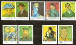 Barbuda Mail 1992 Yvertn° Entre 1200 Et 1211 Pas Complète *** MNH Cote 31,25 Euro Vincent Van Gogh - Antigua Et Barbuda (1981-...)