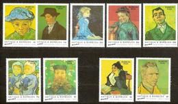 Barbuda Mail 1992 Yvertn° Entre 1200 Et 1211 Pas Complète *** MNH Cote 31,25 Euro Vincent Van Gogh - Antigua Y Barbuda (1981-...)