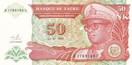 ZAIRE  50 MAKUTA 1993    FDS - Zaire
