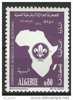 """Algerie YT 574 """" Conférence Sur Le Scoutisme """" 1973 Neuf** - Algérie (1962-...)"""