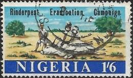 NIGERIA 1967 Rinderpest Eradication Campaign - 1s6d  Tending Sick Animal FU - Nigeria (1961-...)