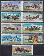 Hungary 1968 Animals (Equestrian Races) - Horses, MNH (**) Michel 2423-2431 - Reitsport