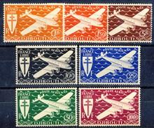 Costa Dei Somali Posta Aerea 1943 Serie N. 1-7 MNH Cat. € 16.70 - Unused Stamps