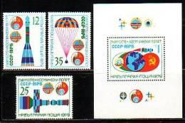 BULGARIA / BULGARIE - 1979 - Espace - Cooperation Bulgarie - Russie - 3v   Bl ** - Bulgarie