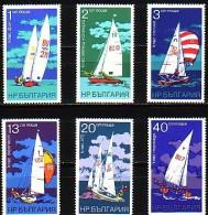 BULGARIA \ BULGARIE - 1973 - Yachting - 6v ** Perf - Bulgarie
