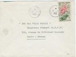 SPM YT 362 SEUL SUR LETTRE 17/12/65 PETIT CACHET DIAM 22 POUR PARIS - TDA167 - St.Pierre Et Miquelon