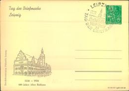 """1956, Privatganzsache 10 Pfg. Fünfjahresplan Zum """"""""Tag Der Briefmarke"""""""" Mit SSt LEIPZIG. - DDR"""
