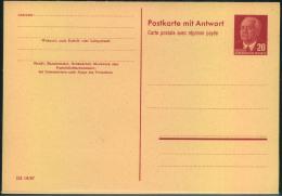 Doppelkarte 15 Pfg. Pieck (DV III 18/97) Sauber Ungebraucht. - DDR