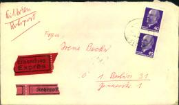 1965, Rohrpost-Eilboten Mit MeF 40 Pfg. Ulbricht. Rückseitig Mit Rohrpoststempeln Hinten. Viertelklappe Fehlt. - DDR
