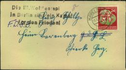 1951, Fernbrief Mit 24 Pfg Und Propagandastempel Zu Den Weltfestspielen Ab HAVELBERG - DDR