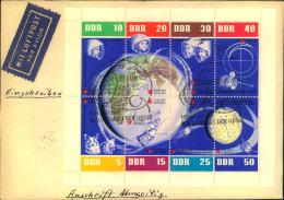 1962, Weltraum Kleinbogen R-LuPo FDC Nach Dänemark - DDR