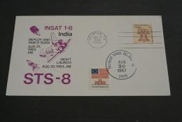 Ru479- FDC  Card- USA-  1983-  INSAT 1-B   -India - - STS-8 - United States