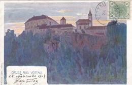 Gruss Aus Voettau (now Bitov Czehc Republic) Austro-Hungarina Empire Era, Castle On Hill, C1900s Vintage Postcard - Tschechische Republik