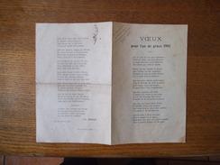 LILLE 1er JANVIER 1903 CH. MANSO DEDICACE A MONSIEUR A.BEAUCHOT VOEUX POUR L'AN DE GRÂCE 1903 - Documents Historiques