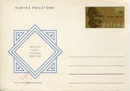 17812 Poland, Stationery Card  1,50zl.  Mahatma Gandhi