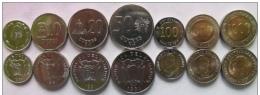 Ecuador Set Of 7 Coins UNC