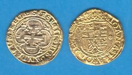 JUANA Y CARLOS 1.506-1.516  1 ESCUDO  Oro Burgos Réplica  DL-12.036 - Prove & Monete Ribattute