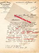14 - SAINT PIERRE SUR DIVES- FACTURE MAGASINS REUNIS- MME LOUISE MOUGIN-30 RUE DE FALAISE- RUE DU MARCHE- 1928 - 1900 – 1949