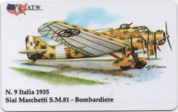 Scheda Prepagata ATW Siai Marchetti S.M. 81 Bombardiere - Aereo, Aeroplano, Avion, Flugzeug, Airplane - Schede GSM, Prepagate & Ricariche