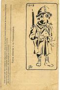 Dessin A L'encre, Original, Humoristique Et Caustique (signé Et Daté) De La Fin De La Guerre 1914-1918 - War 1914-18