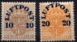 SUEDE - Les 2 Premières Valeurs De 1920 Neuves TB