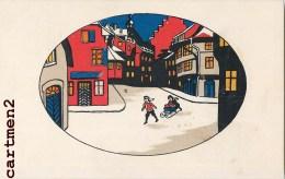 ILLUSTRATEUR A IDENTIFIER NEDERLAND ? PAYS-BAS ? STYLE ART DECO EDITION AMAG NOEL HIVER - Voor 1900