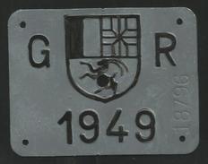 Velonummer Graubünden GR 49 - Placas De Matriculación