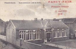 Flémalle-Grande - Ecole Communale (coté De Droite) Animée, Fancy-Fair 1909 - Flémalle
