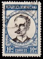 DOMINICAN REPUBLIC - Scott #457 The 100th Anniversary Of The Birth Of Jose Marti (*) / Used Stamp - Dominican Republic