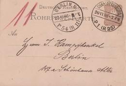 DR Ganzsache Rohrpost Charlottenburg 20.6.86 - Deutschland