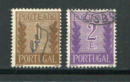 Portugal Taxe Y&T N°66-67 Oblitérés - Port Dû (Taxe)