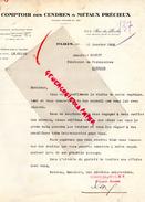 75 - PARIS - COMPTOIR DES CENDRES ET METAUX PRECIEUX-4-6- RUE DU PERCHE- RUE VIEILLE DU TEMPLE-1928 - France