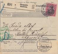 DR Paketkarte EF Minr.93I Chemnitz Gablenz 16.12.12 Gel. In Schweiz - Deutschland