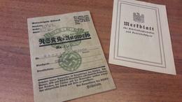 Old Personal Document - NSKK Ausweis, Motorbrigade Sudwest, Deutsches Reich - Altre Collezioni