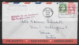 "1955 Canada ""Air Conveyance"" Stamp, Toronto To Austria"