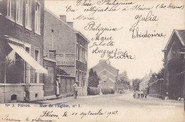 Fléron - Rue De L'Eglise (animée, 1903) - Fléron