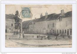 """Mirebeau-sur-Beze. La Place. (Peut-e Tre Un """""""""""""""" Arbre De La Liberte """""""""""""""" Sur La Place ?) (revolution 1789) - Mirebeau"""