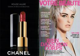 Cartes Parfumées Carte CHANEL PUBLICITE MAGAZINE ROUGE ALLURE 2006  De   CHANEL    21 CM X 15.5 CM DOUBLE RECTO VERSO - Modernes (à Partir De 1961)