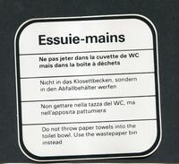"""Rare étiquette Sticker Autocollant De Station Services De Marque BP - Années 90 """"Essuis-mains"""" British Petroleum Sticker - Transports"""